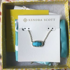 Kendra Scott Gold Elisa Necklace in Turquoise